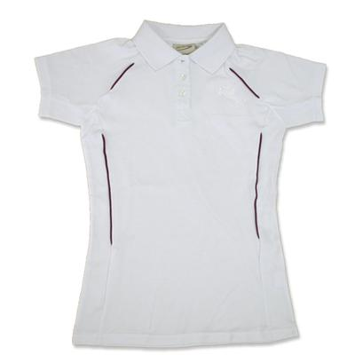 Ladies White Supporters Polos