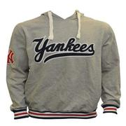 Majestic NY Yankees Light Grey (Red & White Accents) Hoodie