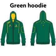 AVAILABLE NOW - Australian Jackaroos Supporter Wear - Green Hoodie