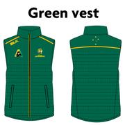 AVAILABLE NOW - NEW Australian Jackaroos Supporter Wear - Green Vest