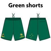 AVAILABLE NOW - NEW Australian Jackaroos Supporter Wear - Green Shorts