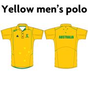 AVAILABLE NOW - NEW Australian Jackaroos Supporter Wear - Gold Men's Polo