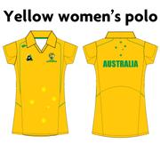 AVAILABLE NOW - NEW Australian Jackaroos Supporter Wear - Gold Women's Polo